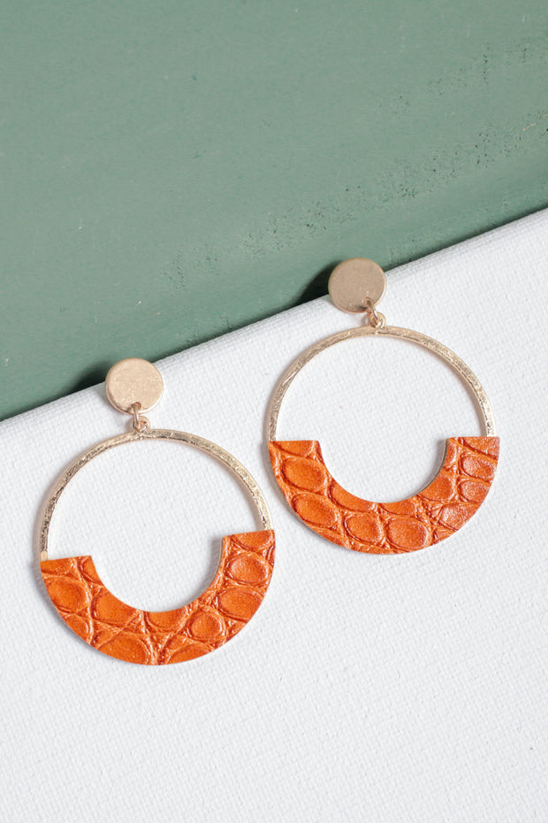 Borgata Circle Drop Earrings