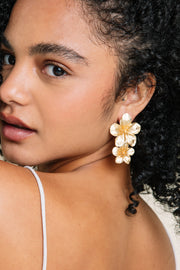 Gold Primrose Earrings