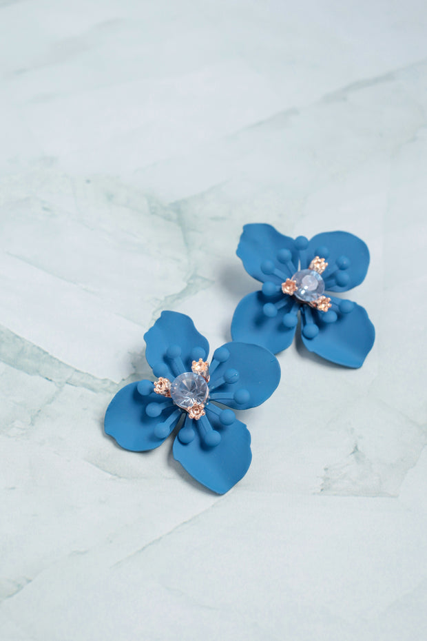 Clematis Floral Earrings