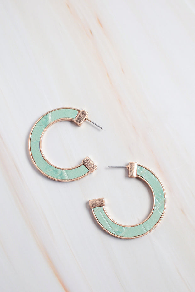 Modern Mint Hoop Earrings