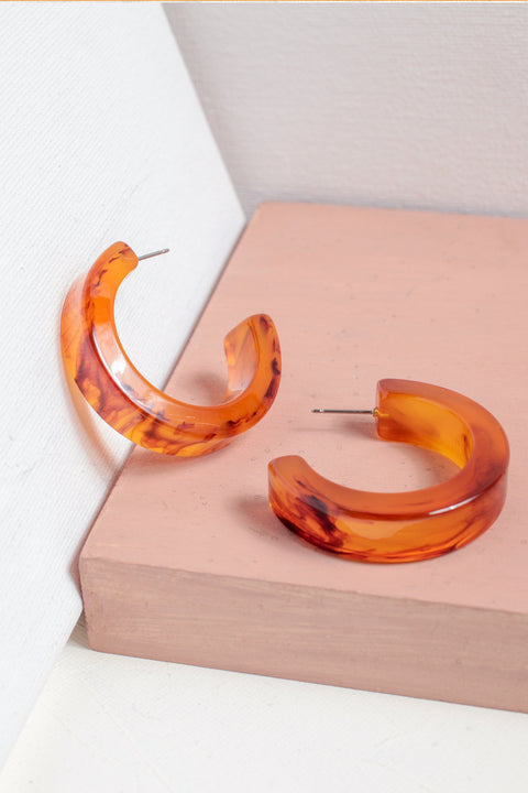Chunky Resin Hoops