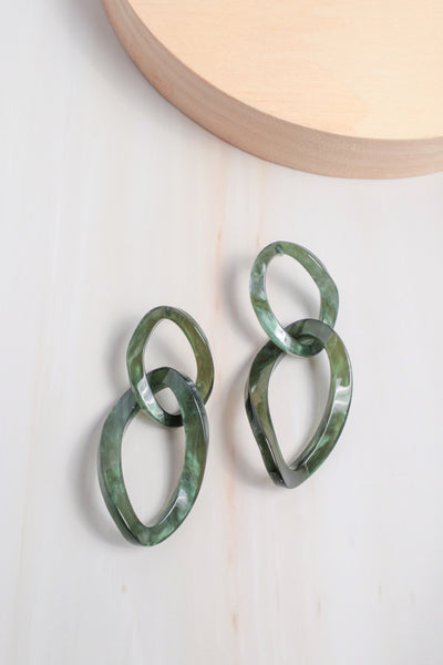 Organic Linked Resin Earrings
