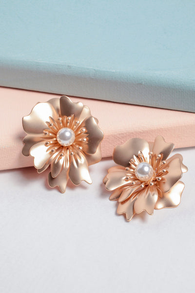 Fleur and Pearl Earrings