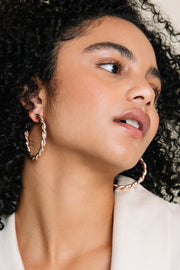 Avery Rose Gold Hoop Earrnings