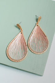 Cyrene Rose Gold Thread Earrings