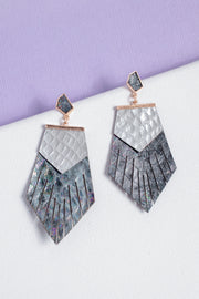 Metallic Fringe Drop Earrings
