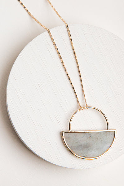Layla Stone Pendant Necklace