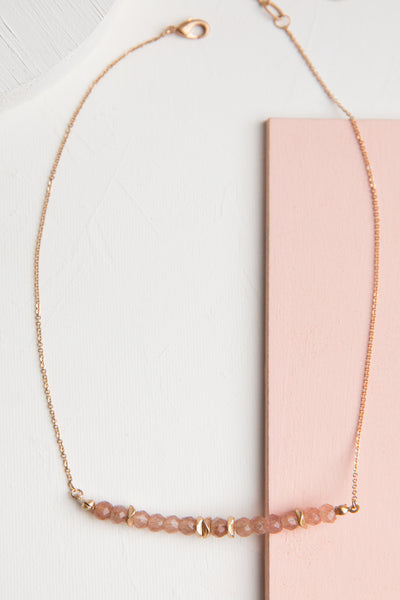 Blush Beaded Necklace