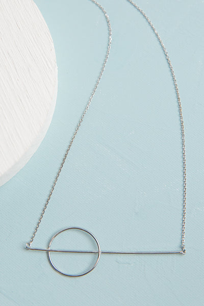 Orbit White Gold Plated Necklace