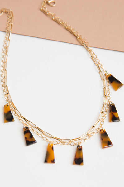 Tortoise Layered Necklace