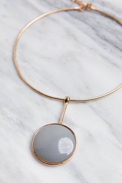 Nova Pendant Choker Necklace