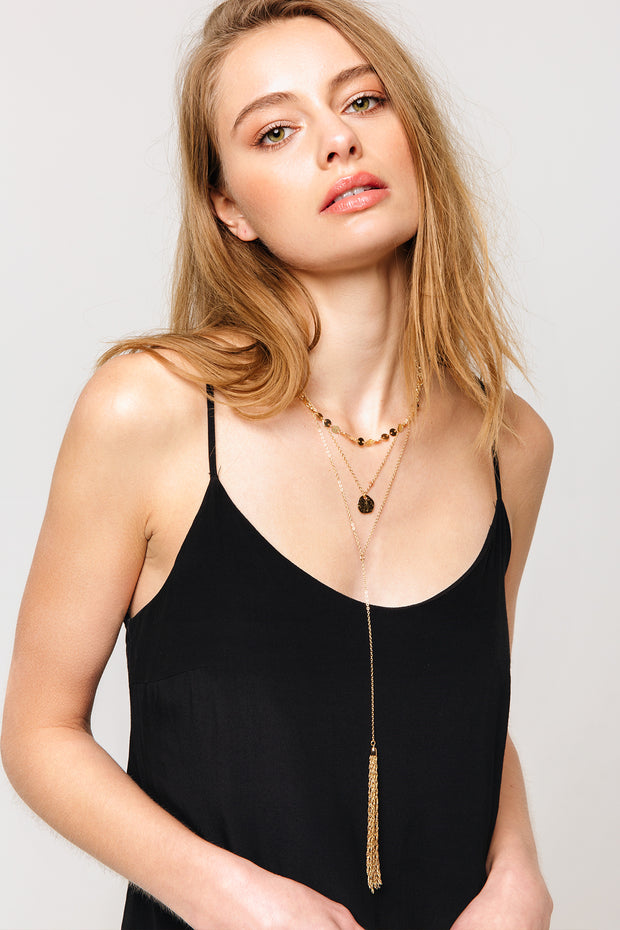 Jetset Tassel Layered Necklace