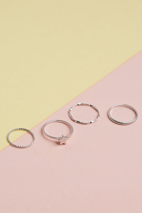 Lucky Star Ring Set