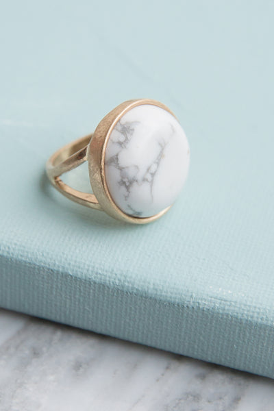 Marble Stone Ring