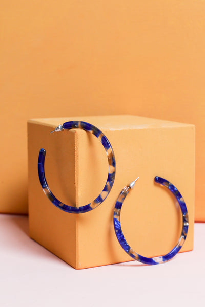 Baltic Resin Hoop Earrings