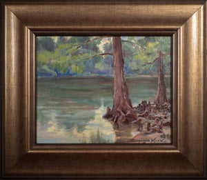 2 Cypress Trees on the Bank