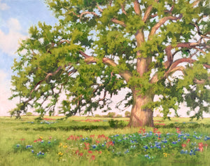 Texas Spring Tapestry & Live Oak