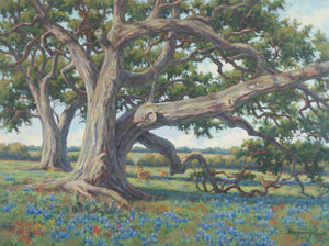 Under the Old Oaks - Displayed in the 34th Bosque Art Classic
