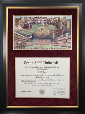 Diploma with Home of the 12th Man Print