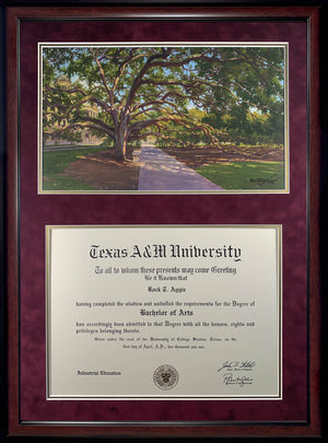 Diploma with Century Tree Color Print