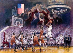 Aggie Men's Basketball: The Shot - Print - Benjamin Knox Fine Art Gallery