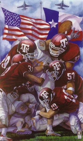 Texas A&M University - Fight for Maroon & White - Print - Benjamin Knox Fine Art Gallery
