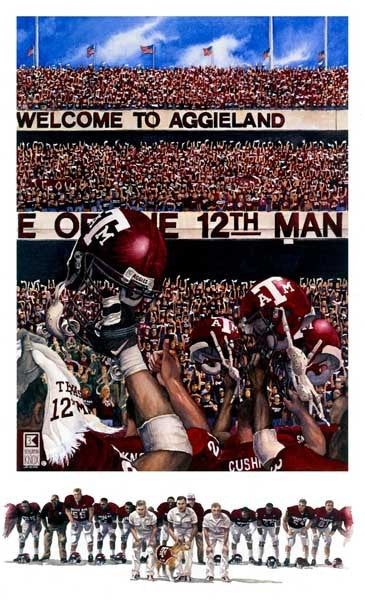 Texas A&M University - Maroon Out - Print - Benjamin Knox Fine Art Gallery