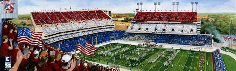 Texas A&M University - Red, White, & Blue Game - Print - Benjamin Knox Fine Art Gallery