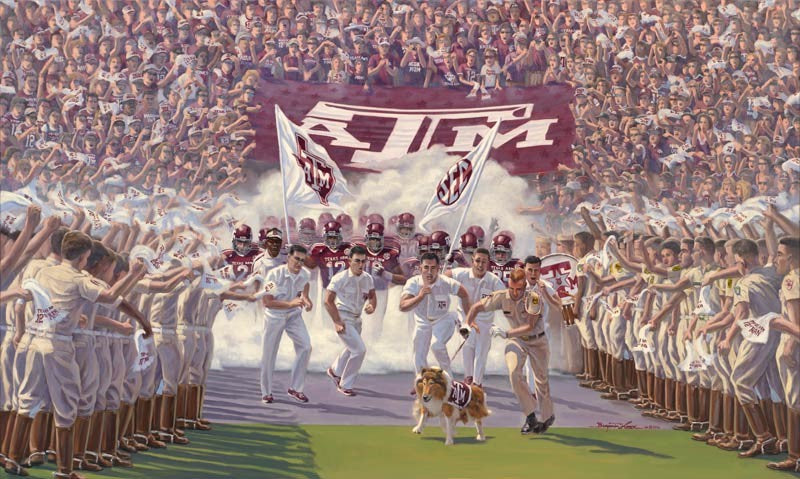 Texas A&M University - Into the SEC - Print - Benjamin Knox Fine Art Gallery