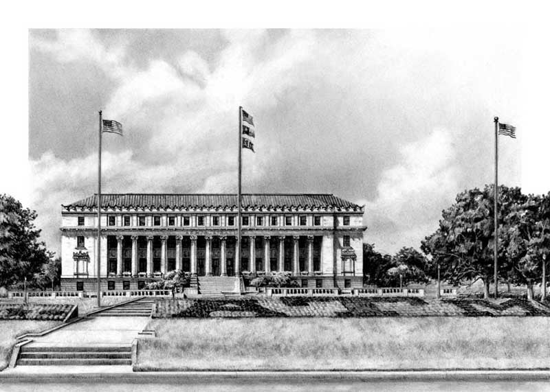 Administration Building - Print - Benjamin Knox Fine Art Gallery
