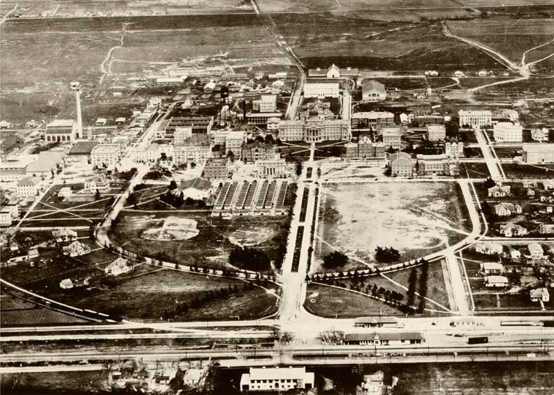 Aerial View of AMC Campus - Print - Benjamin Knox Fine Art Gallery