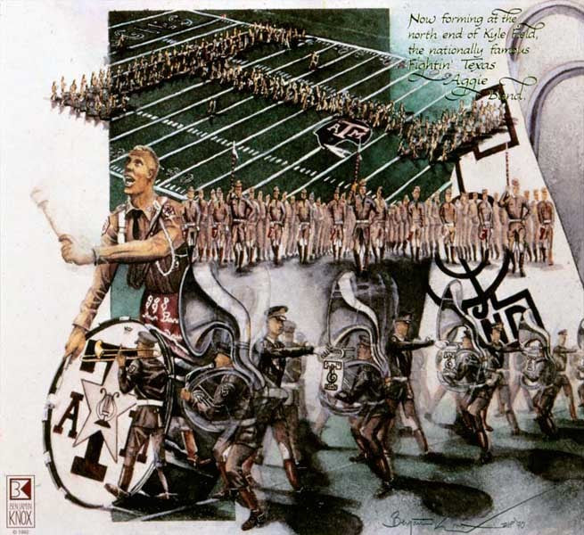 Texas A&M University - Band Collage - Print - Benjamin Knox Fine Art Gallery