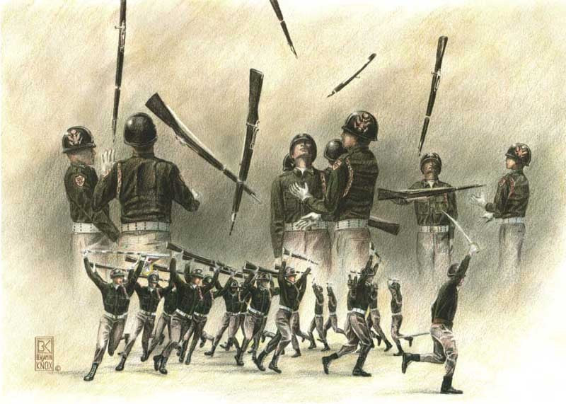 Fish Drill Team - Print - Benjamin Knox Fine Art Gallery