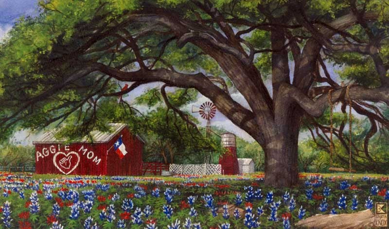 Aggie Mom Barn - Print - Benjamin Knox Fine Art Gallery