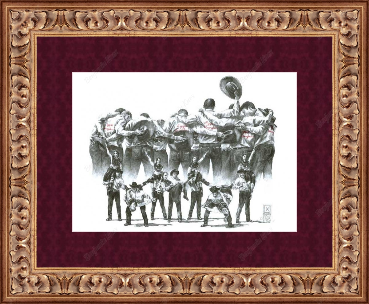Texas A&M University Aggie Wranglers Print / ArtPaper