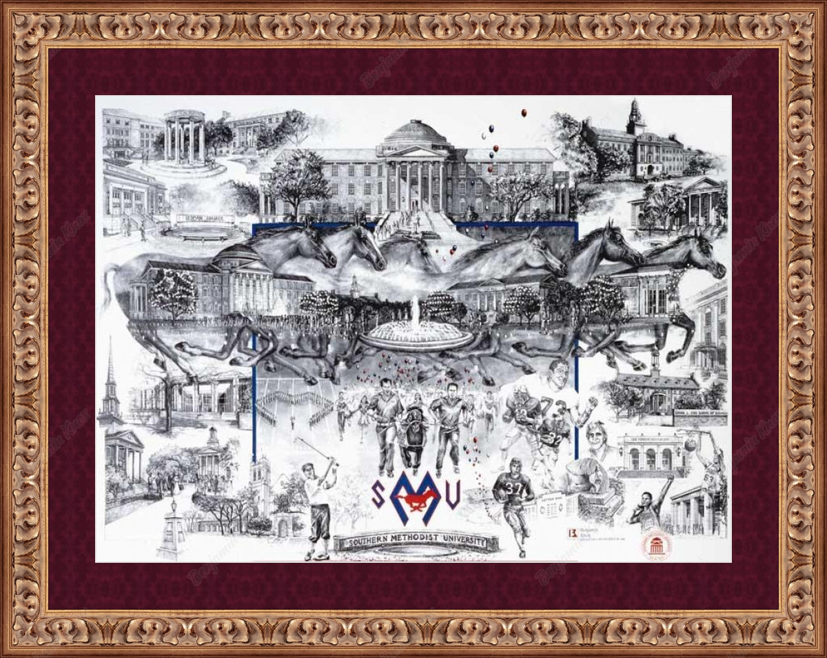 SMU Campus Collage - Southern Methodist University / ArtPaper