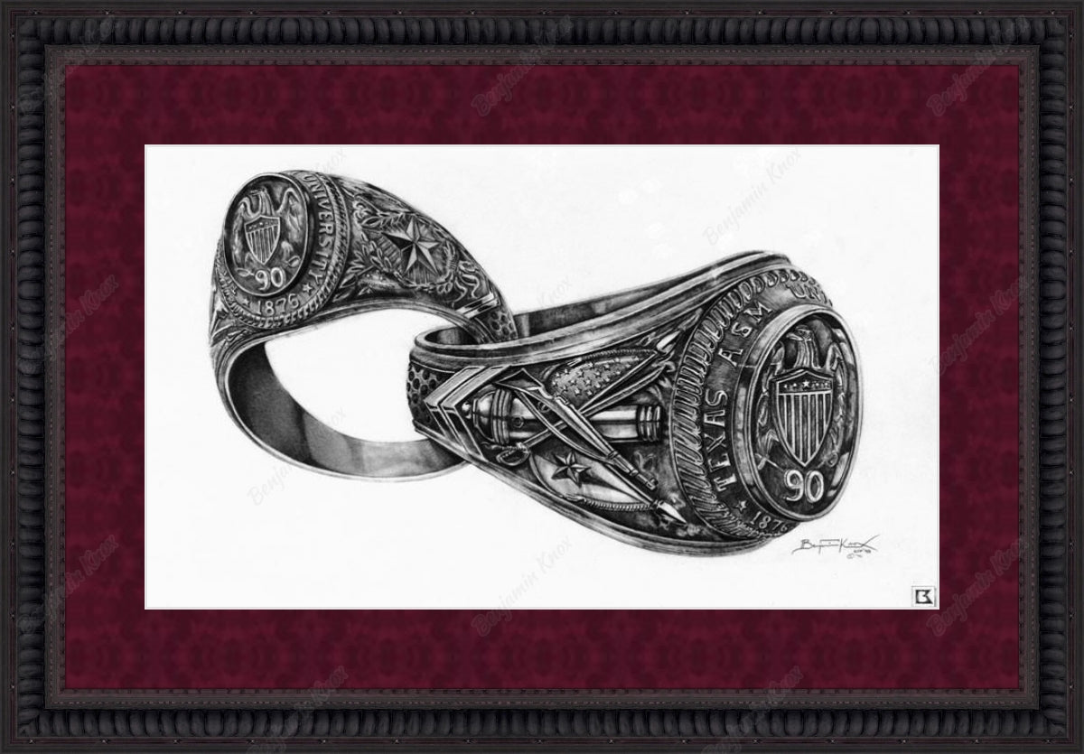 Bonded Aggie Rings/ Interlocking Aggie Rings / ArtPaper