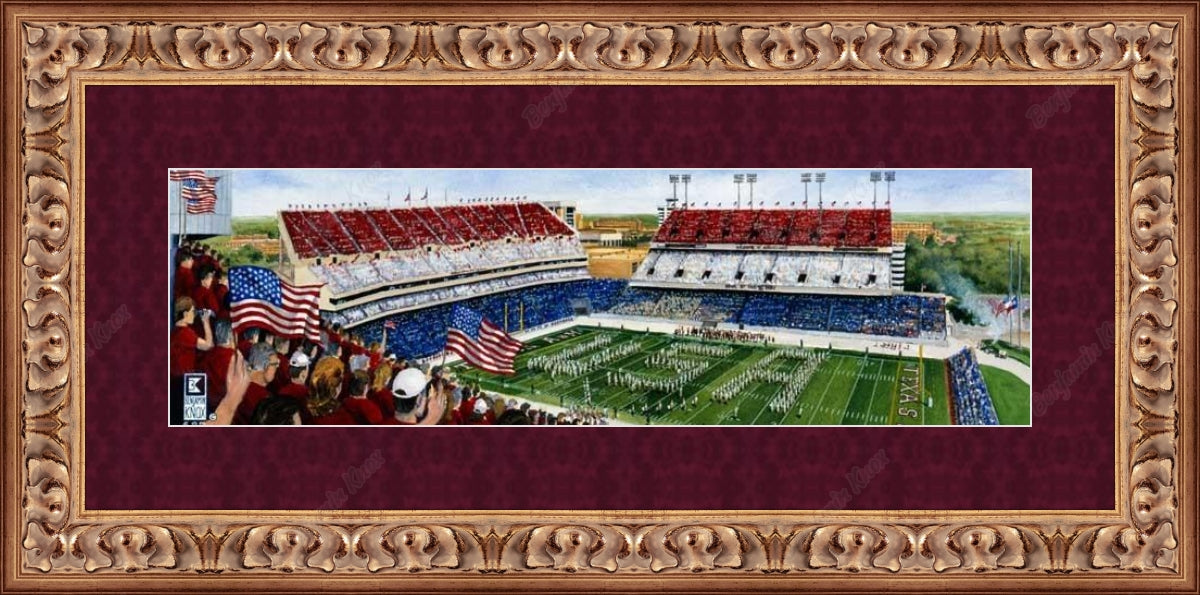 Texas A&M University - Red, White, & Blue Game / ArtPaper