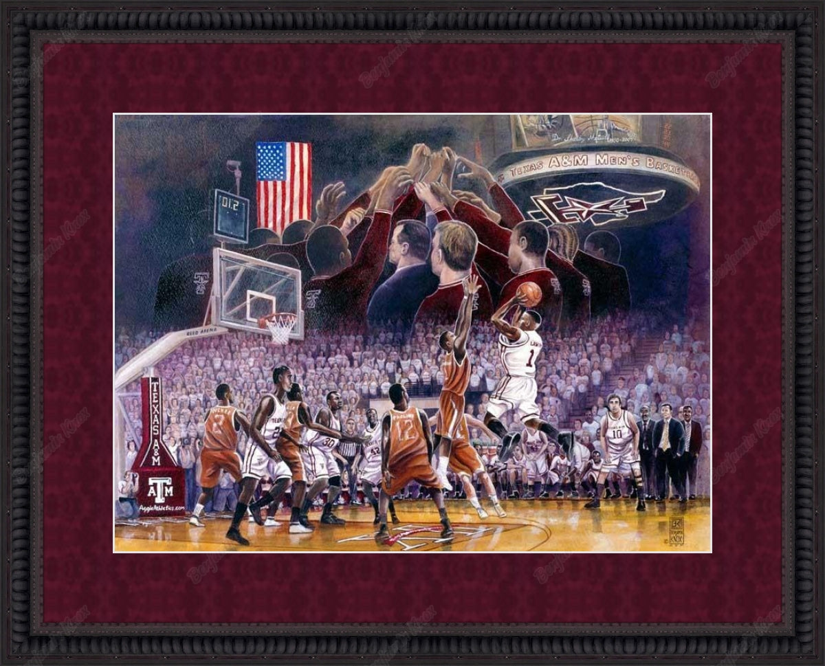 Aggie Men's Basketball: The Shot / ArtPaper