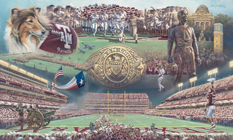 Texas A&M University - Home of the 12th Man - Print - Benjamin Knox Fine Art Gallery