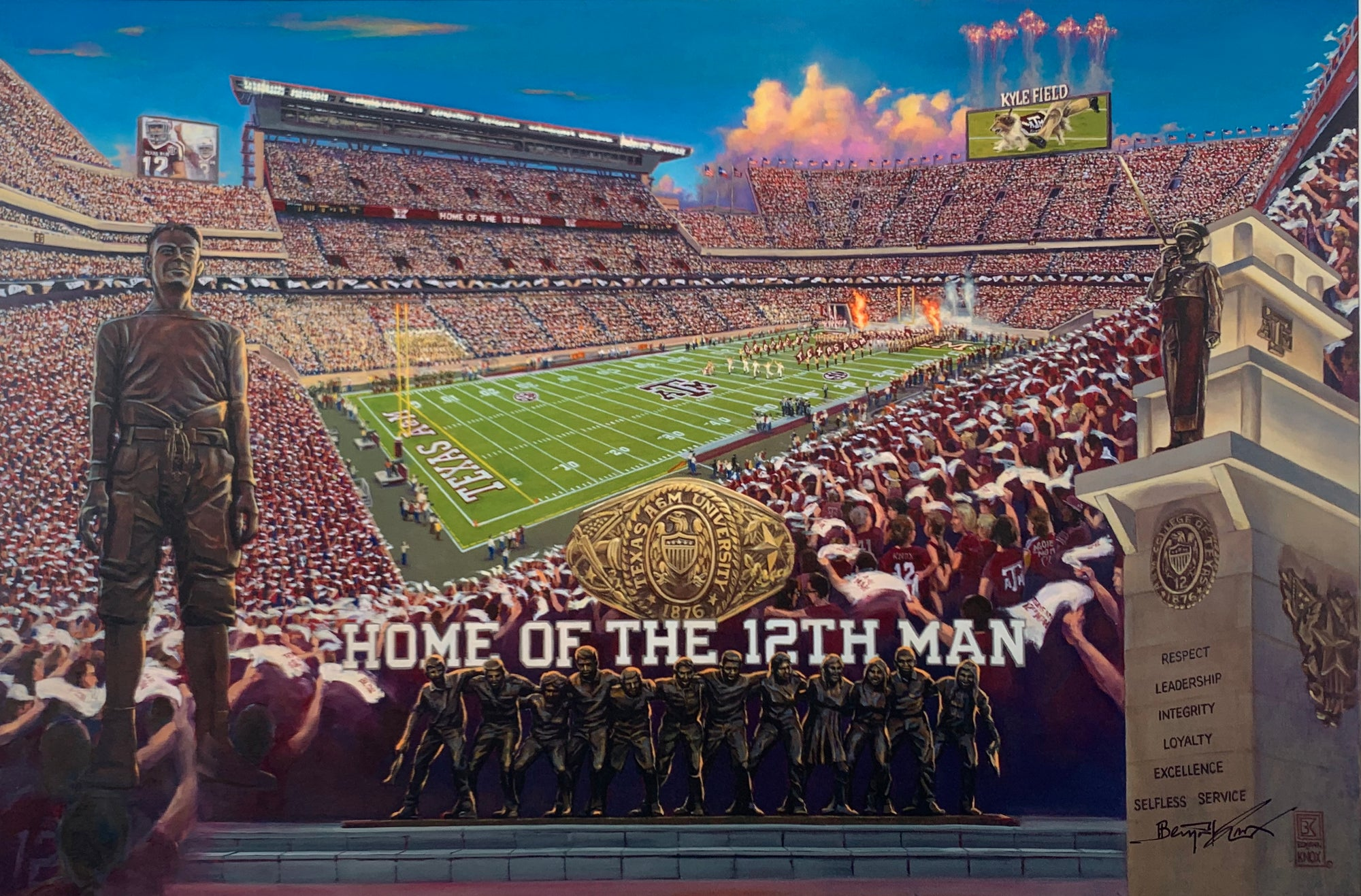 Texas A&M University - New Kyle Field ArtCanvas