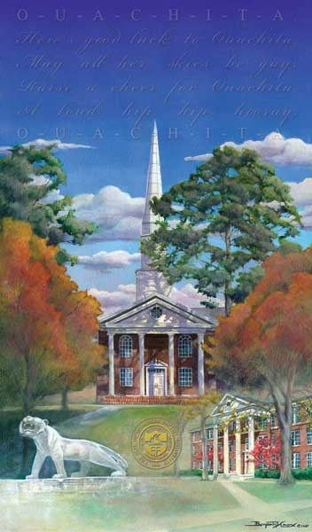 OBU - Ouachita Baptist University 125th Anniversary - Print - Benjamin Knox Fine Art Gallery