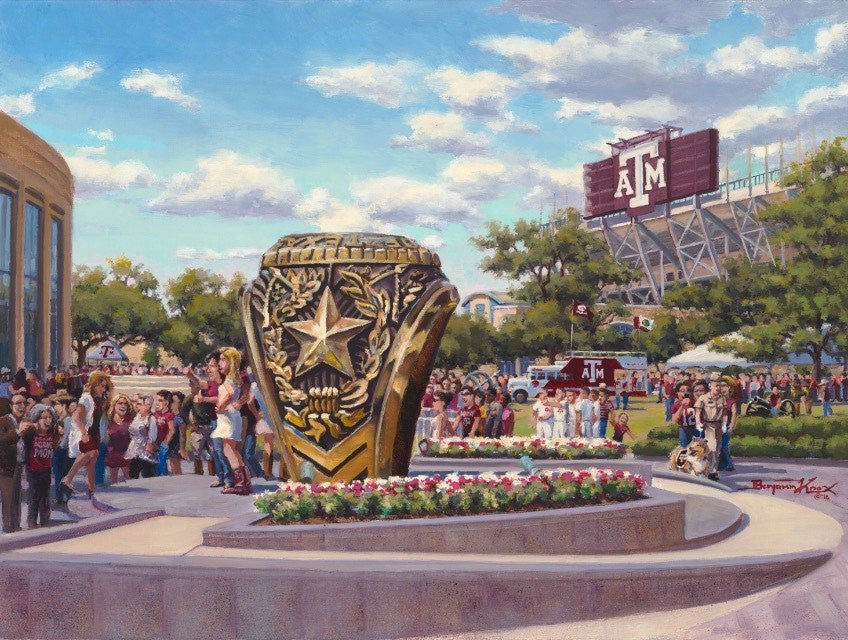 Texas A&M University - Ring Day - Print - Benjamin Knox Fine Art Gallery