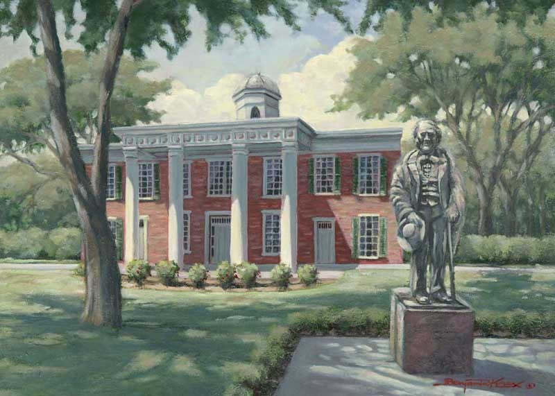 Sam Houston State University - Print - Benjamin Knox Fine Art Gallery