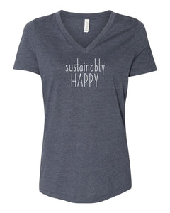 Sustainably Happy women's Heather Navy