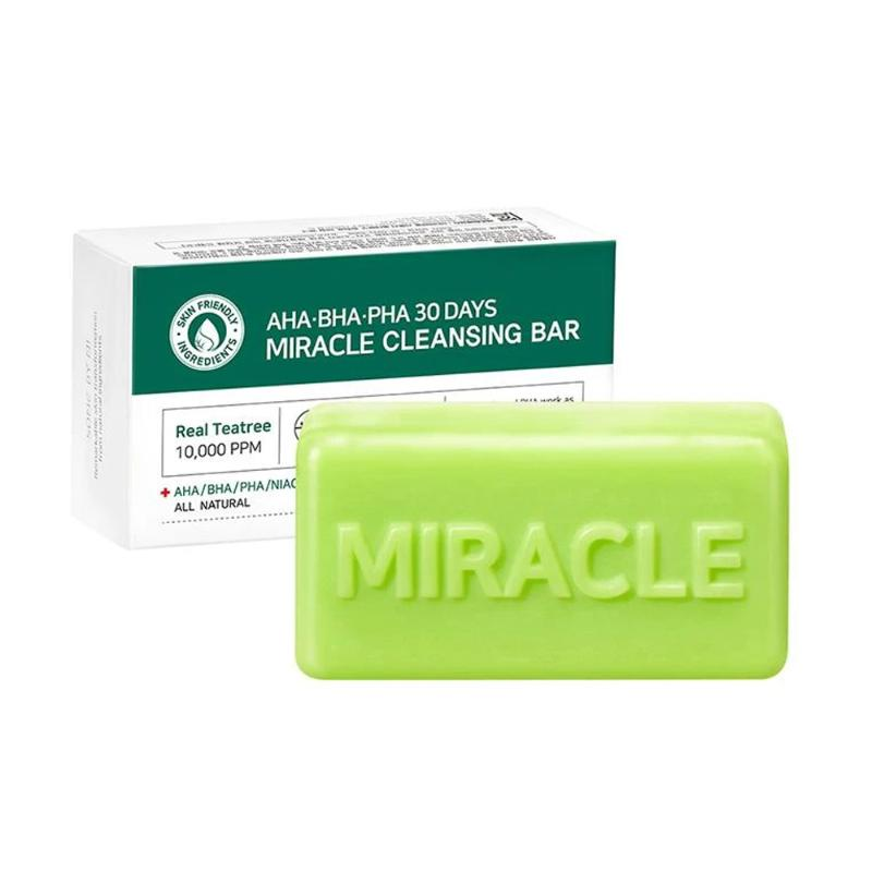 AHA, BHA, PHA 30 Days Miracle Cleansing Bar 1pc 106g - SevenBlossoms