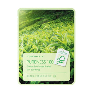 Pureness 100 Mask Sheet - Green Tea - SevenBlossoms