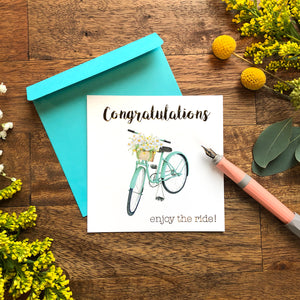 """Congratulations"" with Bicycle"