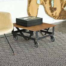 Load image into Gallery viewer, 2x3 Diamond Black/Ivory Indoor-Outdoor Rug