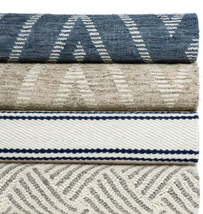 2x3 Healy Blue Woven Wool Rug